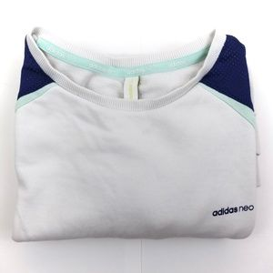 ADIDAS Neo White Mesh Sweat Shirt Men
